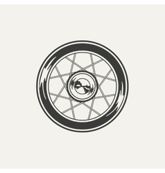 wheel Black and white style vector image vector image