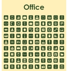 Set of office simple icons vector