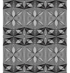 pattern with black graphic lines kaleidoscope vector image