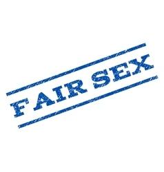 Fair sex watermark stamp vector