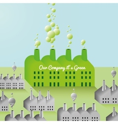 Green Company and Factory abstract Background vector image