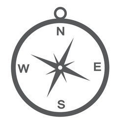 Compass icon isolate on white background vector
