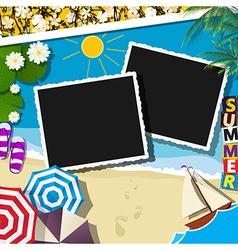 Summer celebration collage vector