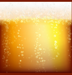 Beer background texture with foam and vubbles vector