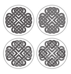 heart celtic cross ethnic ornament vector image