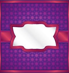 Purple ornamental frame vector
