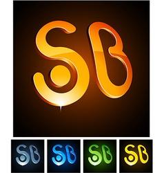 3d sb emblems vector
