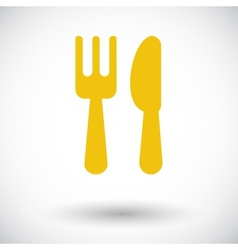 Cutlery single icon vector