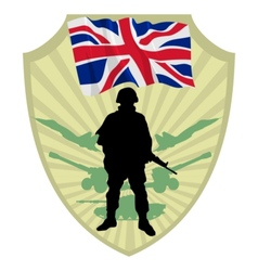 Army of united kingdom vector
