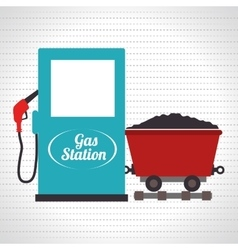 Gas and mining isolated icon design vector