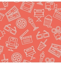 Line cinema pattern vector