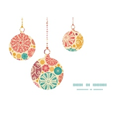 Abstract decorative circles christmas ornaments vector