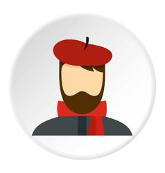 Artist icon circle vector