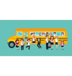 Back to school and children education concept vector
