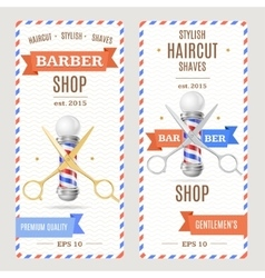 Barber Shop Banners Flyers Card vector image vector image