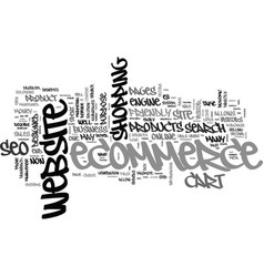 benefits of seo for ecommerce text word cloud vector image vector image