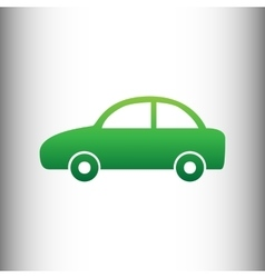 Car sign green gradient icon vector