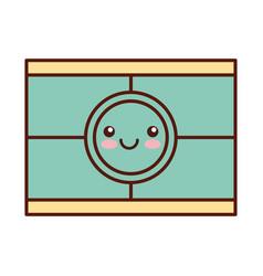 Cinema scene kawaii character vector