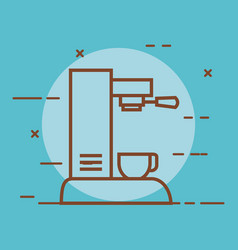 Coffee machine with a cup can be used for home vector