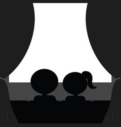 couple in cinema vector image