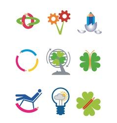 Creativity ecology icons vector