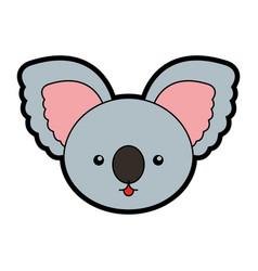cute koala face cartoon vector image vector image