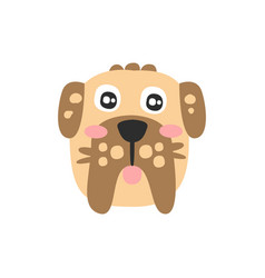 Cute schnauzer dog head funny cartoon animal vector