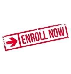 Enroll now stamp vector