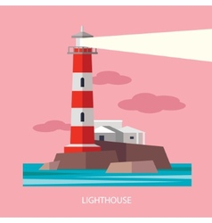 Flat Red Beacon vector image
