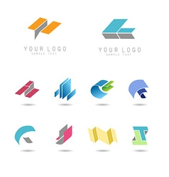 geometry icons set vector image vector image