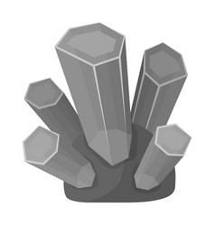 green natural minerals icon in monochrome style vector image