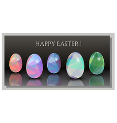 Happy easter cards - abstract triangle pattern 3d vector