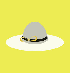Icon in flat design fashion clothes women hat vector