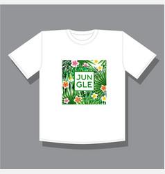 Jungle logo to print t shirts vector