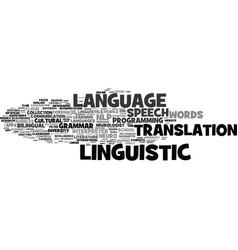 Linguistic word cloud concept vector