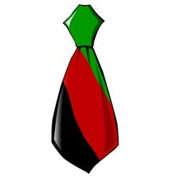 Necktie in national colours of afghanistan vector