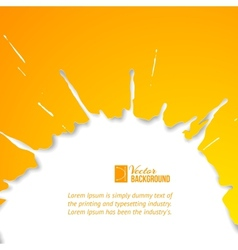 Orange drop over white vector image