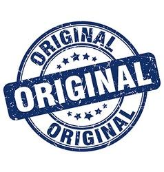 Original blue grunge round vintage rubber stamp vector