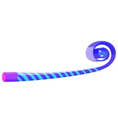 Party horn in blue color vector image vector image
