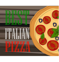 pizza food menu for restaurant and cafe vector image vector image