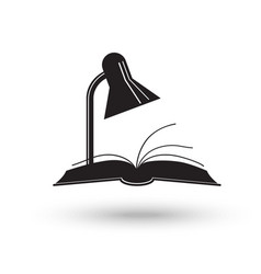 Reading lamp and book vector