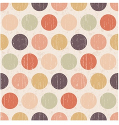 seamless retro polka dots background vector image vector image