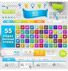 Set of Flat Design Icons Elements Widgets vector image vector image