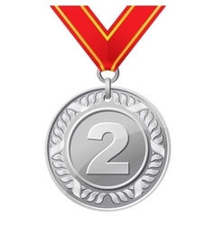 silver medal vector image