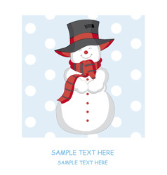 snowmanvector vector image