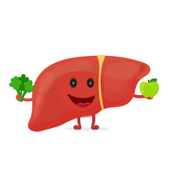 strong healthy happy liver character vector image vector image