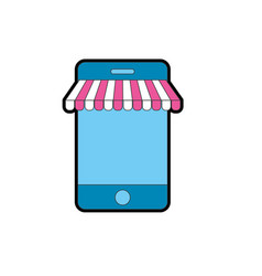 Technology smartphone to business information vector