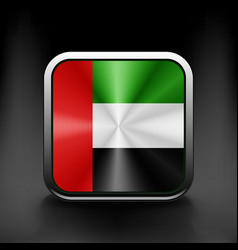 United arab emirates flag icon vector