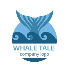Whale tail label vector image vector image