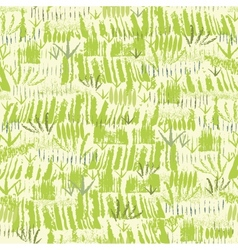 Painting of green grass seamless pattern vector